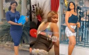 Iyabo Ojo's daughter, Priscilla Ojo loses home-training as she twerks in her mother's living room (Video)